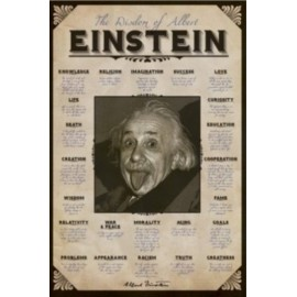 Affiche Poster Plastifié ALBERT EINSTEIN QUOTES