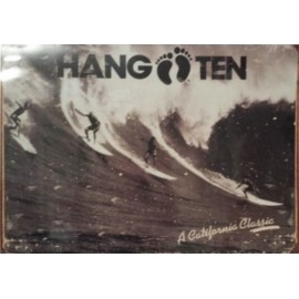 Affiche Poster Plastifié HANG TEN