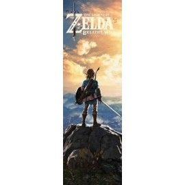 Affiche Poster Plastifié NINTENDO THE LEGEND OF ZELDA BREATH OF THE WILD DE PORTE FORMAT