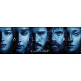 Affiche Poster Plastifié GAME OF THRONES WINTER IS HERE FORMAT PANORAMIQUE