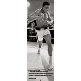 Affiche Poster Plastifié MAHOMED ALI FIRST ROUND