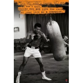 Affiche Poster MOHAMED ALI PUNCHING BALL