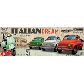 Affiche Poster Plastifié ITALIAN DREAM PANORAMIQUE FORMAT